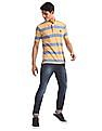 U.S. Polo Assn. Yellow Striped Grindle Polo Shirt