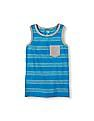The Children's Place Boys Sleeveless Striped Pocket Tank Top