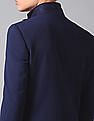 True Blue Single Breasted Textured Blazer