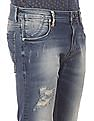 Ed Hardy Slim Fit Distressed Jeans