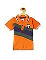Donuts Orange Boys Cut And Sew Panel Pique Polo Shirt