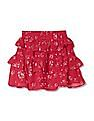 Cherokee Girls Floral Print Tiered Skirt