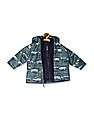 The Children's Place Baby Boys Green All Over Print Three-In-One Jacket